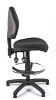 Juno Medium Back Draughtsman Chair - Charcoal - Side