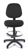 Juno Medium Back Draughtsman Chair - Black - Front