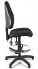 Juno High Back Draughtsman Chair - Black - Side