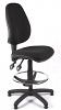 Juno High Back Draughtsman Chair - Black