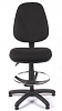 Juno High Back Draughtsman Chair - Black - Front