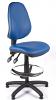 Juno Vinyl High Back Draughtsman Chair - Light Blue2