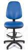 Juno Vinyl High Back Draughtsman Chair - Light Blue3