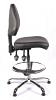 Juno Chrome Vinyl Medium Back Draughtsman Chair - Black1