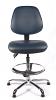 Juno Chrome Vinyl Medium Back Draughtsman Chair - DBlue3