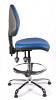 Juno Chrome Vinyl Medium Back Draughtsman Chair - LBlue1
