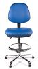 Juno Chrome Vinyl Medium Back Draughtsman Chair - LBlue3