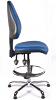Juno Chrome Vinyl High Back Draughtsman Chair - LBlue1