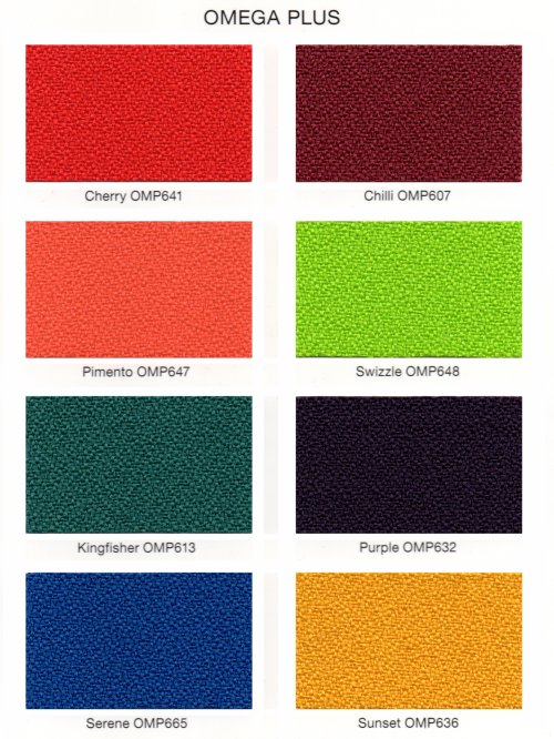Omega Plus Fabric options