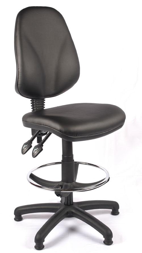 Juno Vinyl High Back Draughtsman Chair