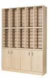 Premium Pigeonhole Unit With 60 Spaces and Cupboards