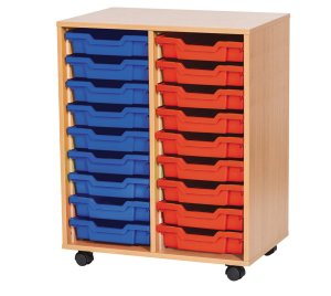 Double Tray Storage Units