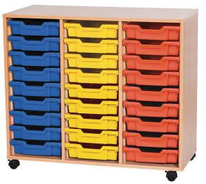 Triple Tray Storage Units