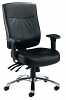 Marathon Leather 24 Hour Chair Aluminium Base