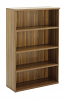 Regent Tall Bookcase Dark Walnut Finish