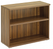 Regent Low Bookcase Dark Walnut Finish