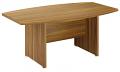 Regent 2.4m Boardroom Table Dark Walnut Finish