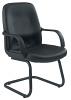 Canasta Leather-Look Visitor Chair Black Base