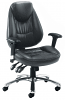 Sphinx Office Chair with Polished Aluminium Base