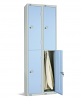 Two Door Locker - Nest of 2 Light Blue
