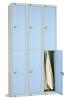 Two Door Locker - Nest of 3 Blue