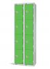 Four Door Locker - Nest of 2 Green