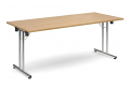 Deluxe 1800mm Folding Meeting Table Oak