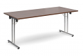 Deluxe 1800mm Folding Meeting Table Walnut