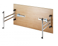 Deluxe 1600mm Folding Meeting Table Open
