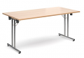 Deluxe 1600mm Folding Meeting Table Beech