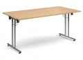 Deluxe 1600mm Folding Meeting Table Oak