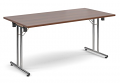 Deluxe 1600mm Folding Meeting Table Walnut