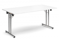 Deluxe 1600mm Folding Meeting Table White