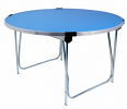 Round Folding Table Blue