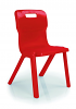 Titan One Piece Chair Red