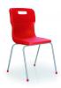 Titan 4 Leg Chair Red