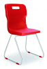 Titan Skid Chair Red