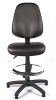 Juno Vinyl High Back Operator Chair - Black - Front