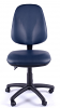 Juno Vinyl High Back Operator Chair - Dark Blue - Front