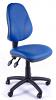Juno Vinyl High Back Operator Chair - Light Blue