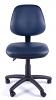 Juno Vinyl Medium Back Operator Chair - Dark Blue - Front