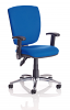 Notion High Back Operator Chair with Chrome Base and Folding Arms