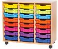24 Tray Triple Storage Unit