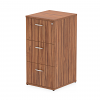Impulse Filing Cabinet 3 Drawer Walnut