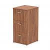 Impulse Filing Cabinet 3 Drawer Walnut