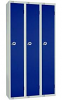 Single Door Locker - Nest of 3 Blue