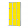 Two Door Locker - Nest of 3 Yellow