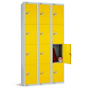 Four Door Locker - Nest of 3 Yellow