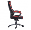Jensen high back executive chair - black and red faux leather
