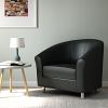 Relax Tub Armchair Black